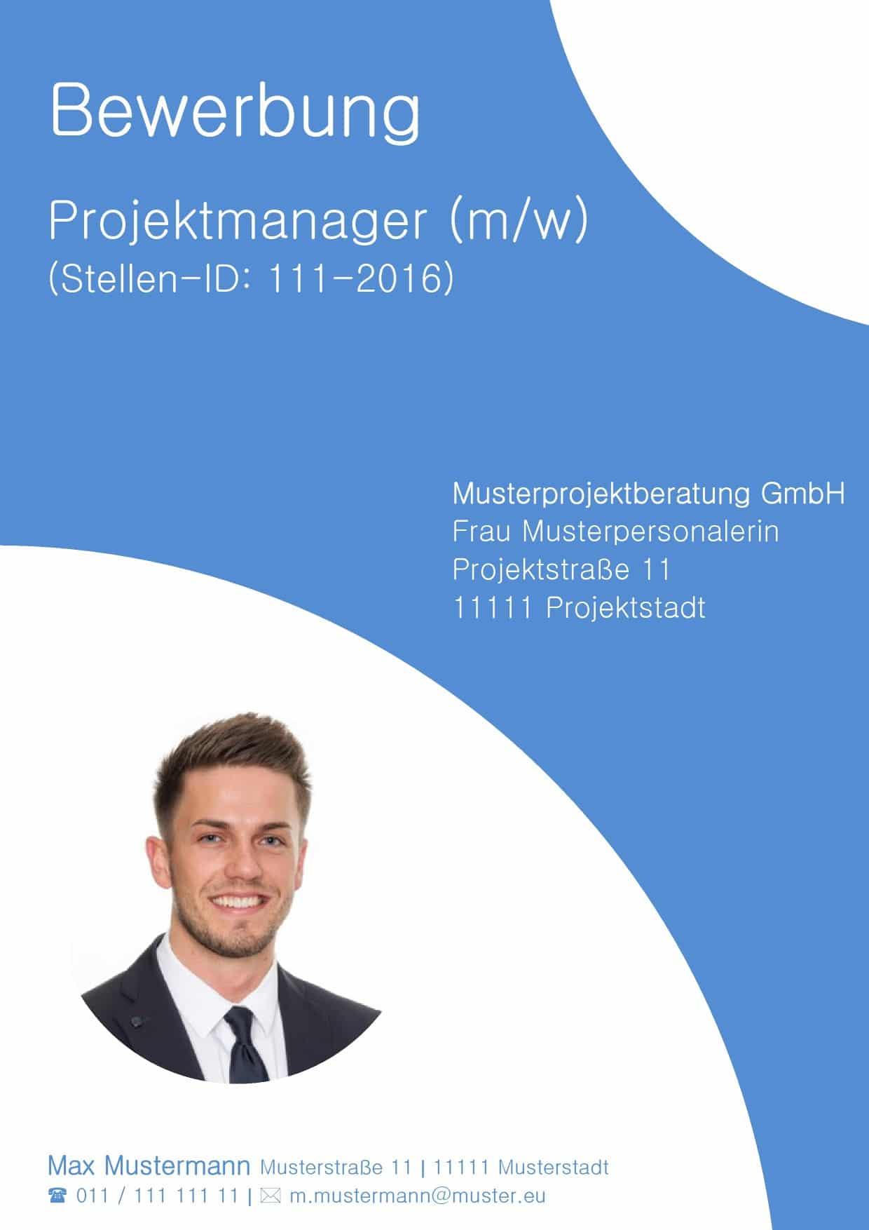 Deckblatt Bewerbung 21 - Projektmanager / Projektleiter / Projektmanagement