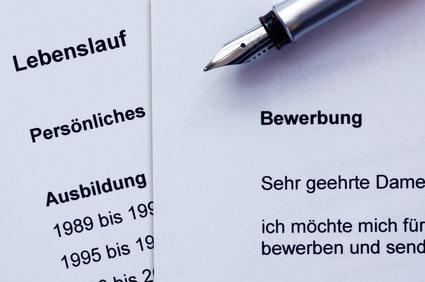 Anschreiben of the German Bewebrung