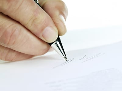 Handgeschriebene Bewerbung