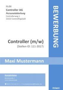 Deckblatt Bewerbung ohne Foto - kostenloses Download - Muster / Vorlage / Datei / .doc / Word-Format für die Onlinebewerbung oder Bewerbung per Mappe