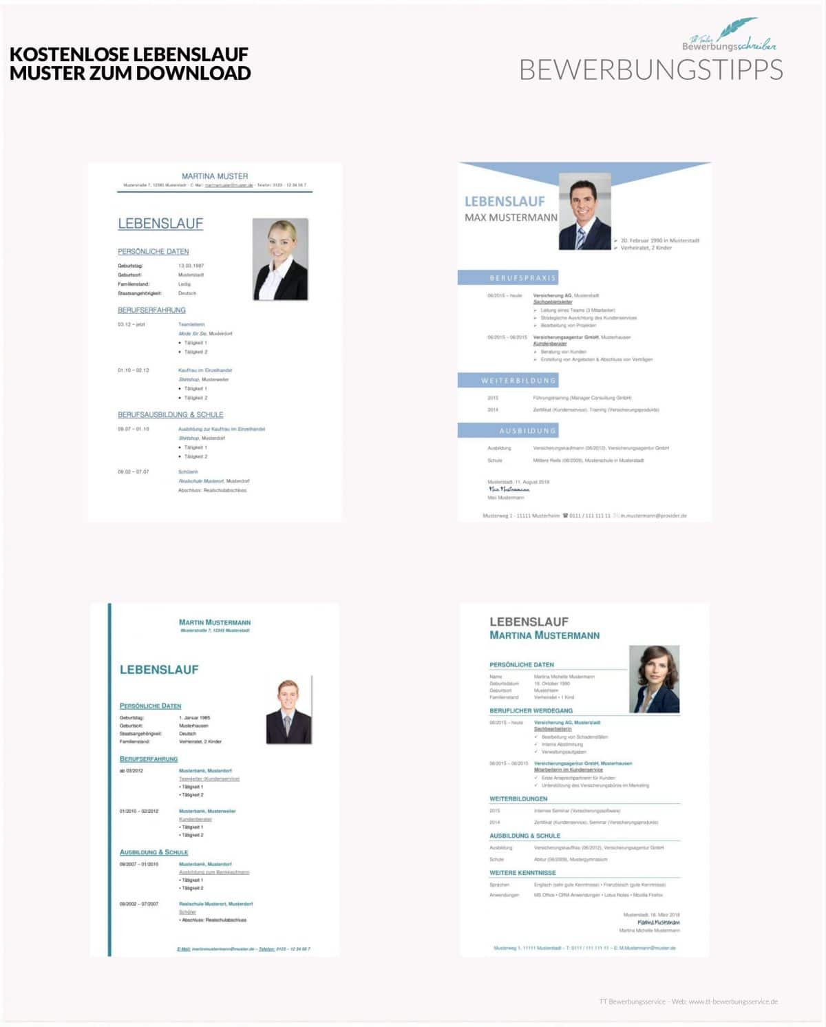 Modern Resume Template Cv Template For Ms 9